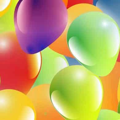ballons de toutes les couleurs gonfles