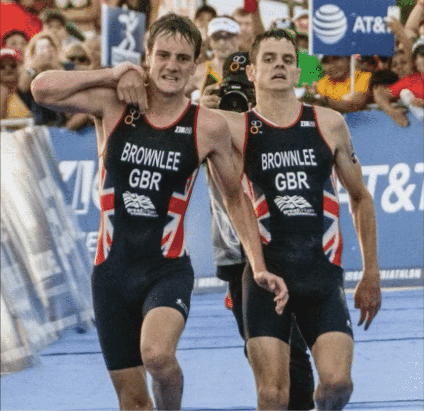 Frere brownlee au triathlon du mexique 2016